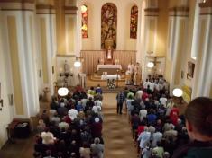 Svěcení reliéfu J. K. Matochy, bohoslužba