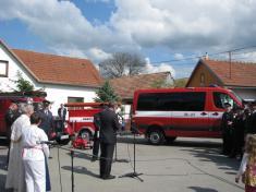 Svěcení nového hasičského vozidla - 6.5.2017