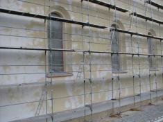 Oprava fasády a pěšího chodníku objektu kostela
